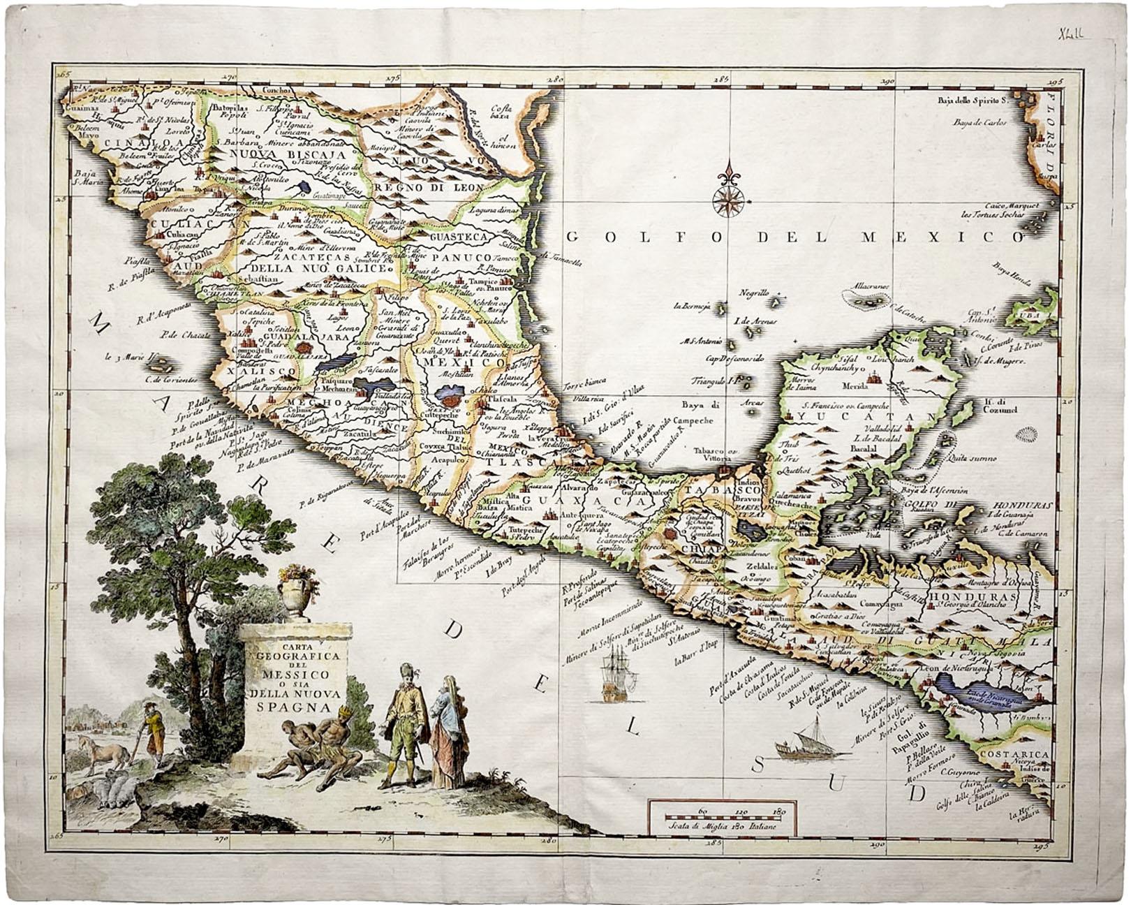 Cartina Geografica Politica Del Messico.Carta Geografica Del Messico O Sia Della Nuova Spagna 1492 Maps